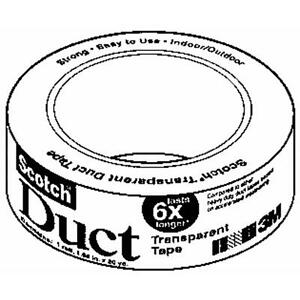 6 Pk 3m 1 1 2 X 4 Yd Scotch Clear Transparent Duct Duck Tape 2105 cd