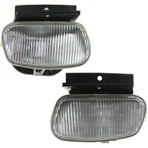 Set Of 2 Clear Lens Fog Light For 98 00 Ford Ranger Lh Rh Capa W Bulbs