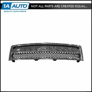 Grille Chrome Black Front For Chevy Silverado 1500 Hybrid