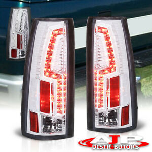 88 98 Chevy C K Truck Direct Replacement Led Brake Stop Tail Lights Lamps Chrome