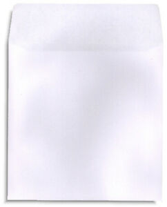 200 pak White Paper Cd dvd Sleeves With No Window And With Flap 100gram Weight