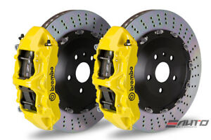 Brembo Front Gt Brake 6pot Caliper Yellow 405x34 Drill Disc 958 Cayenne S Turbo