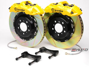 Brembo Front Gt Brake 6pot Caliper Yellow 405x34 Slot Rotor 958 Cayenne S Turbo