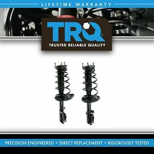 Trq New Complete Loaded Strut Spring Assembly Rear Pair 2pc For Camry Avalon
