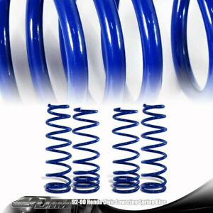 Blue Front Rear 1 6 Drop Lowering Spring Suspension Kit For Honda Civic Acura
