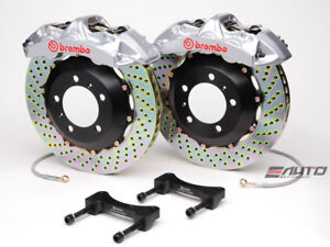 Brembo Front Gt Brake 6pot Silver 355x32 Drill For Wrx 08 14 Legacy 2 5i 10 14