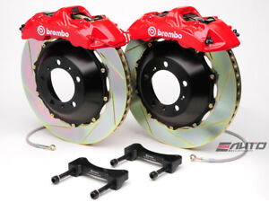 Brembo Front Gt Brake 6pot Red 355x32 Slot Rotor For Wrx 08 14 Legacy 2 5i 10 14