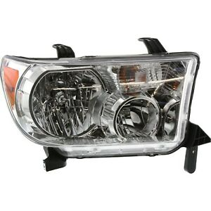 Headlight For 2007 2013 Toyota Tundra 2008 2016 Sequoia Passenger Side W Bulb