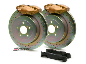 Brembo Rear Gt Brake 2pot Gold 316x20 Drill Disc For Wrx 08 14 Legacy 2 5i 10 14