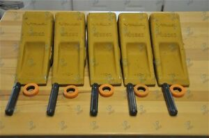Lot Of 5 1u3352 Caterpillar Style Bucket Digging Teeth With Pins