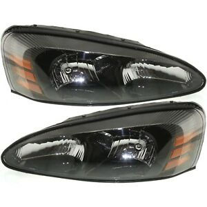 Headlights Headlamps Left Right Pair Set New For 04 08 Pontiac Grand Prix