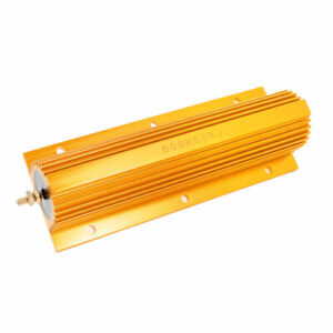 Gold Tone 50 Ohm 500w Resistance 5 Aluminum Shell Wire Wound Resistor