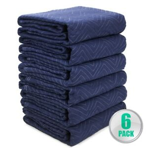 lot 6 Heavy Duty Moving Blankets Padded Furniture Moving Pads Protection 65lbs
