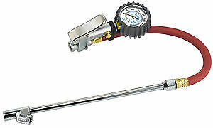 Heavy Duty Truck Dually Tire Air Inflator Dual Chuck With Dial Gauge