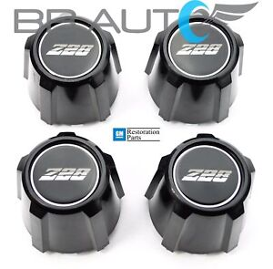 1982 1992 Chevrolet Camaro Z28 15 Inch Aluminum Wheel Center Caps Set New Black