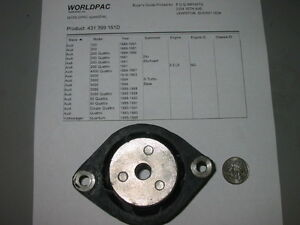 Transmission Mount Audi 80 90 100 200 5000 See Photo For Listing