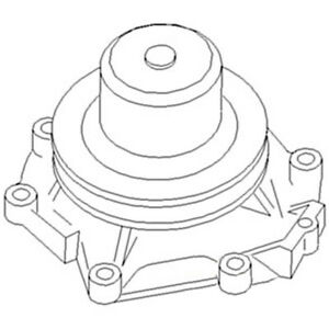 Dhpn8a513a Ford New Holland Tractor Water Pump W Pulley A66 9000 9600