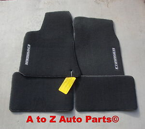 New 2006 2010 Dodge Charger Dark Slate Gray Premium Carpeted Floor Mats Oe Mopar