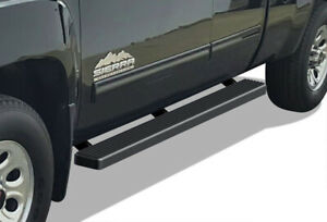 Iboard Running Boards 4 Black Fit 99 13 Chevy Silverado gmc Sierra Double Cab