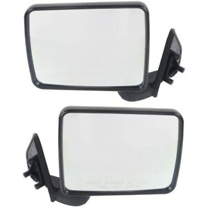 Set Of 2 Mirror Manual For 1987 1993 Dodge Ram 50 Left And Right Paintable