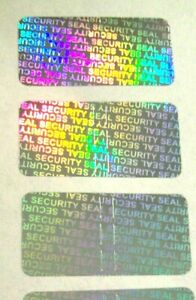 1000 Security Seal Hologram Tamper Evident Warranty Void Labels 1 2 x1