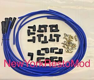 Spark Plug Wires Distributor Hei Chevy Bbc Sbc Sbf 8 5 Mm Blue Straight New