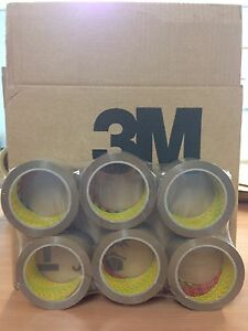 6 Rolls 3m Scotch 371 Buff Brown Packaging Packing Tape 48mm X 66m free 24h
