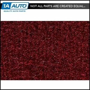 For 1987 89 Chevy Beretta Cutpile 825 maroon Complete Carpet Molded