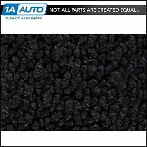 For 1958 Chevy Corvette Cut Sewn 80 20 Loop 01 black Complete Carpet