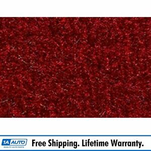 For 1982 93 Ford Mustang Hardtop Molded Passenger Area Carpet 815 red Cutpile