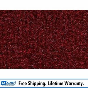 For 1982 93 Ford Mustang Hardtop Molded Passenger Area Carpet 825 maroon Cutpile