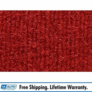 For 1987 95 Jeep Wrangler Cutpile 8801 Flame Red Cargo Area Carpet Molded