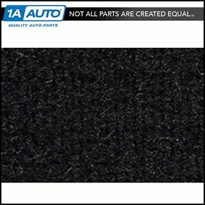 For 1977 Chevy Malibu 2 Door Cutpile 801 Black Complete Carpet Molded