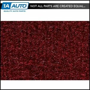For 1990 96 Chevy Beretta Heat Vents Cutpile 825 maroon Complete Carpet Molded