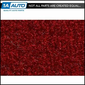 For 1983 93 Ford Mustang Convertible Cutpile 815 Red Complete Carpet Molded