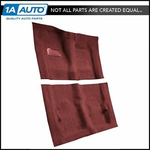 For 1974 76 Cadillac Deville 2 Door Cutpile 4305 oxblood Complete Carpet Molded