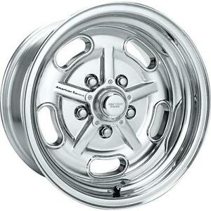 1 15x8 Salt Flat Am Racing Hot Rod Ford Chevy Wheels American Racing Polished