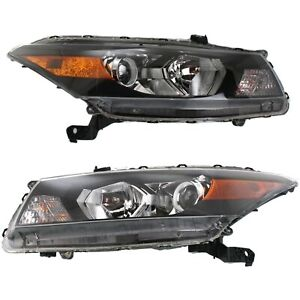 Headlight Set For 2008 2012 Honda Accord Coupe Left And Right With Bulb 2pc