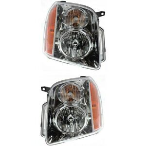 2007 2014 Gmc Yukon Xl 1500 2500 Headlights Headlamps Replacement Left Right Set