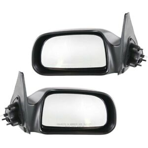 Manual Remote Side View Mirrors Pair Set New For 00 04 Tacoma Pickup Truck