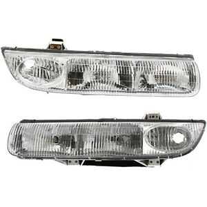 Headlight Set For 96 97 98 99 Saturn Sl2 Sw1 Left And Right With Bulb 2pc