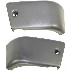 Bumper End Caps For 1984 1988 Toyota Pickup 4wd Front Lh Rh Plastic Primed Pair