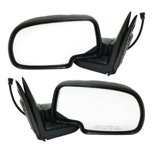Chrome Power Side View Mirrors Left Right Pair Set For 99 02 Chevy Gmc Truck