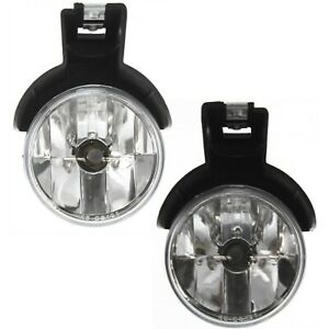 Bumper Mounted Fog Driving Lights Pair Set For Durango Dakota Pickup Truck