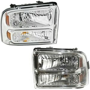 2005 2007 Ford F250 F350 F450 F550 Super Duty Headlights Left right 05 06 07