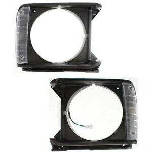 Headlight Door Set For 1979 1981 Toyota Pickup Left And Right Gray Plastic 2pc