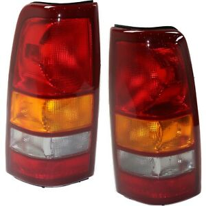 Set Of 2 Tail Light For 99 2002 Chevrolet Silverado 1500 Ls Lh Rh