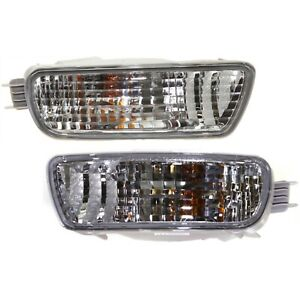 Side Marker Corner Parking Lights Turn Signals Pair Set For 01 04 Tacoma Truck