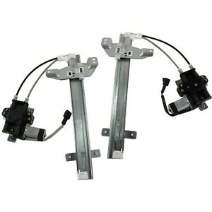 Power Window Regulator For 97 2005 Buick Century Set Of 2 Rear With Motor