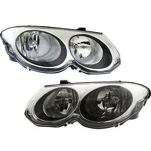 Headlight Set For 99 2004 Chrysler 300m Driver And Passenger Side W Bulb